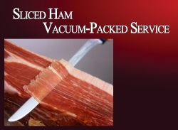 Iberico Ham Slice Service (vacuum pack unit: 100g / pack when sliced)